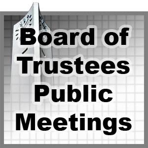 Board of Trustees Public Meetings - Spring 2012
