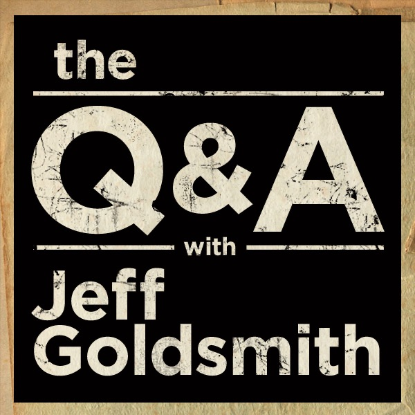 The Q&A with Jeff Goldsmith banner backdrop
