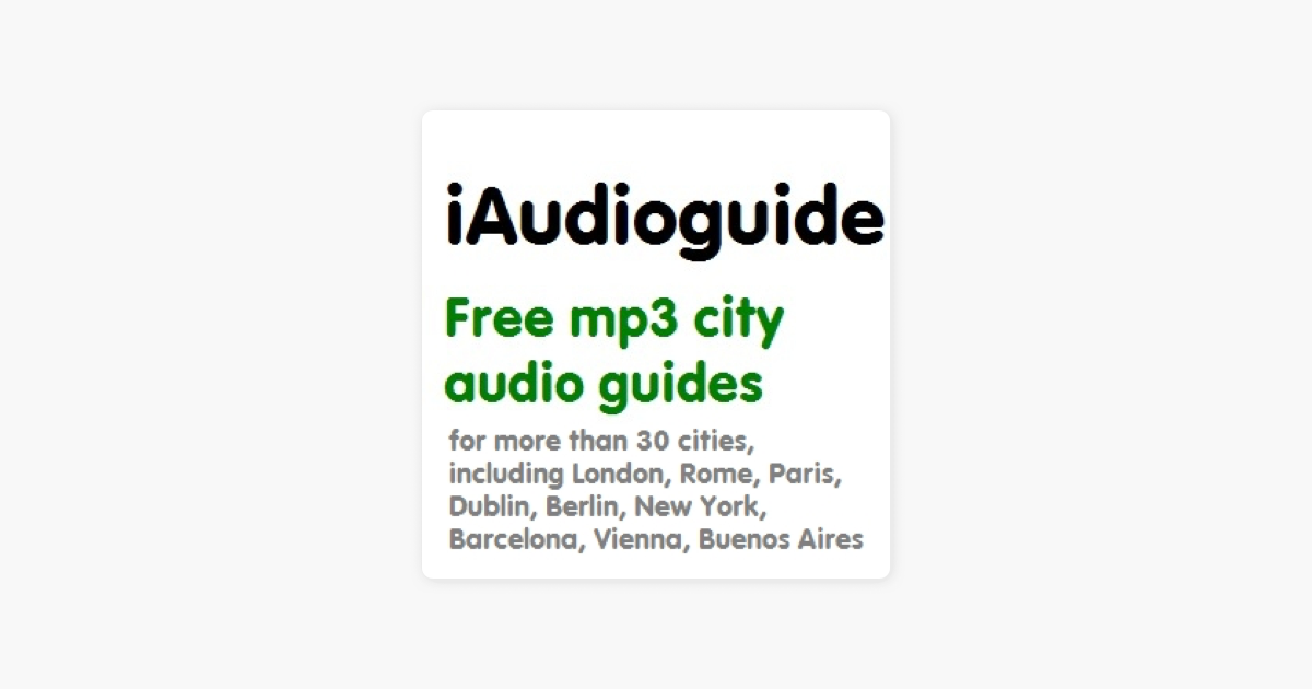Free Berlin audio guide, sample, city map and updates on Apple Podcasts