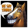 We Say Things - an esports and Dota podcast with SUNSfan & syndereN artwork