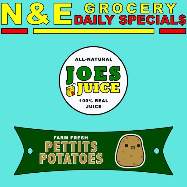 Joes Juice & Pettits Potatoes