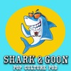 Shark And Goon: A pop-culture podcast artwork