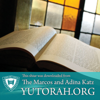 YUTORAH: R' Yonatan Kolatch -- Recent Shiurim podcast