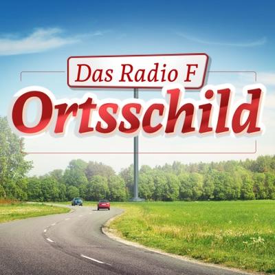 Das Radio F Ortsschild