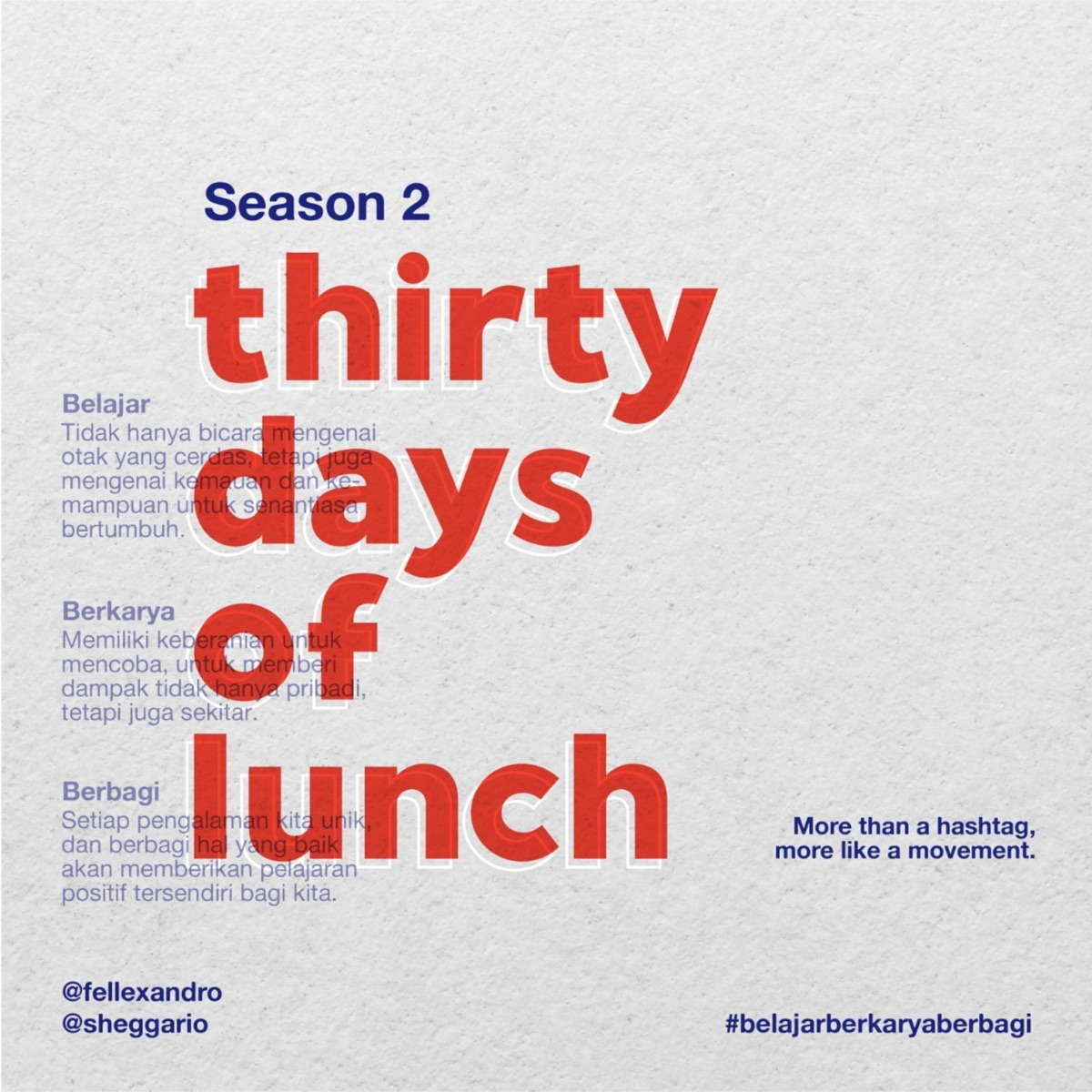 Thirty Days Of Lunch