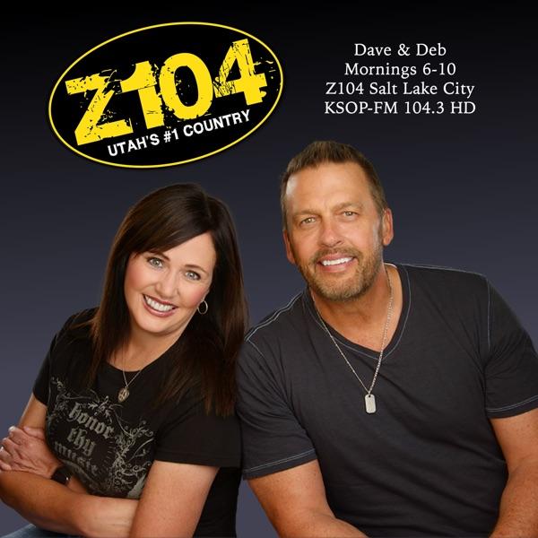 Dave & Deb on Z104 banner backdrop