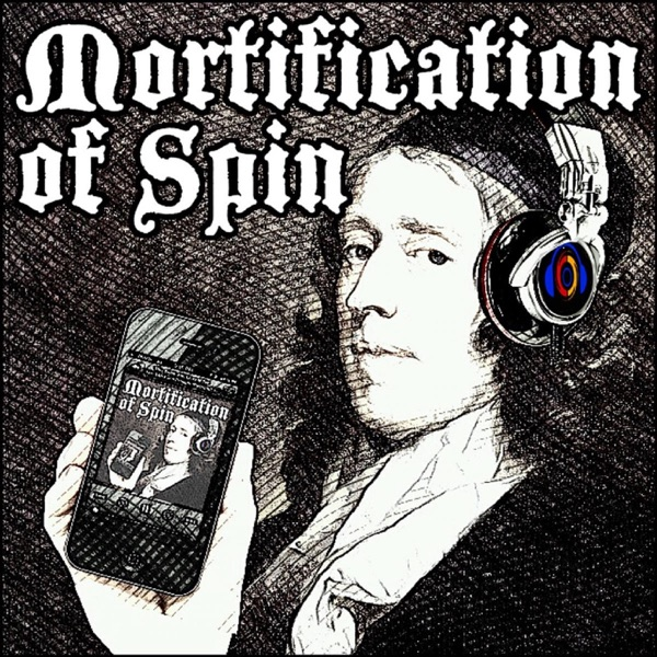Mortification of Spin banner backdrop