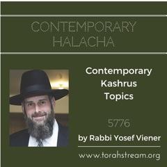 Contemporary Kashrus Topics 5776