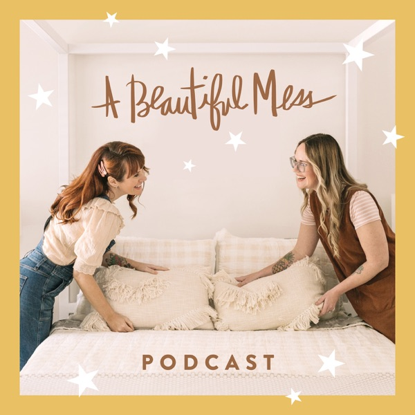 A Beautiful Mess Podcast banner backdrop