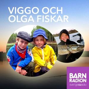 Viggo och Olga fiskar i Barnradion
