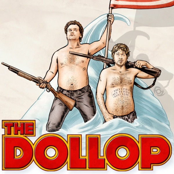 The Dollop with Dave Anthony and Gareth Reynolds banner backdrop