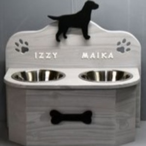 Porte Gamelle Chien : Fabrication artisanale 100% à la main de porte gamelle chien !