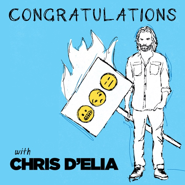 Congratulations with Chris D'Elia banner backdrop