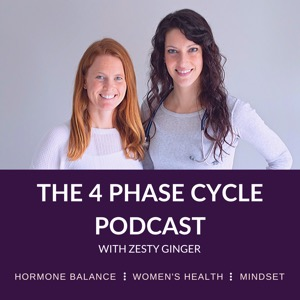 The 4 Phase Cycle Podcast with Zesty Ginger    Hormone Balance   Women's Health   Mindset