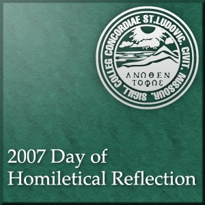 Day of Homiletical Reflection 2007