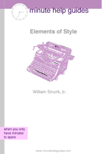 The Elements of Style Summary