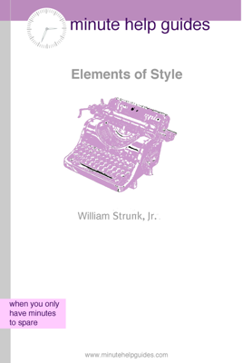 The Elements of Style - William Strunk book