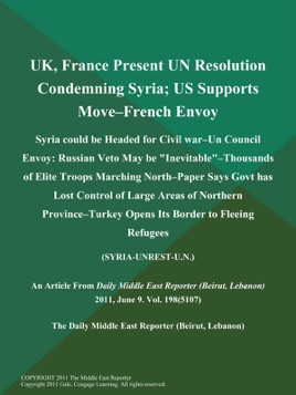 UK, France Present UN Resolution Condemning Syria