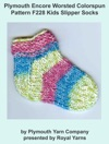 Plymouth Encore Worsted Colorspun Yarn Pattern F228 Kids Slipper Socks