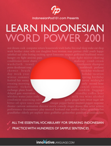 Learn Indonesian - Word Power 2001 La couverture du livre martien