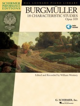 Johann Friedrich Burgmuller - 18 Characteristic Studies, Opus 109 (Songbook)