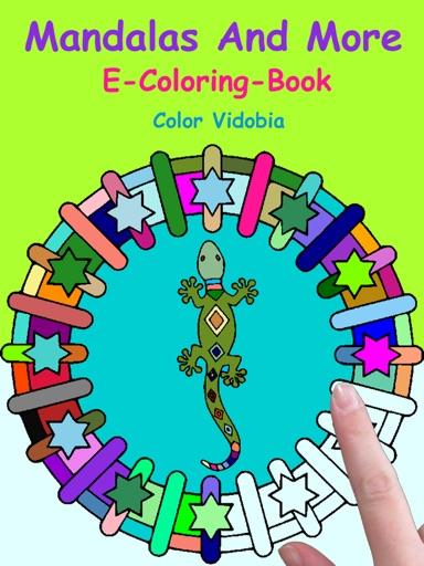 Mandalas and More - E-Coloring-Book - Color Vidobia