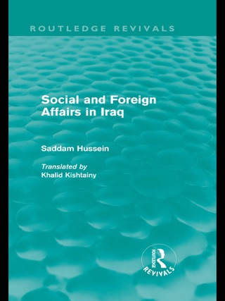 Social and Foreign Affairs in Iraq (Routledge Revivals): Volume 12