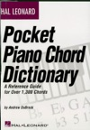 Hal Leonard Pocket Piano Chord Dictionary Music Instruction