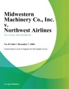 Midwestern Machinery Co Inc V Northwest Airlines
