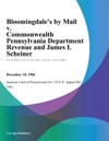 Bloomingdales By Mail V Commonwealth Pennsylvania Department Revenue And James I Scheiner