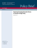 Exploring Emerging Domestic Drivers of Chinese Foreign Policy