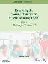 """Breaking The """"Sound"""" Barrier To Fluent Reading (BSB) - Level 1B"""