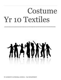 Costume Yr 10 Textiles Technology