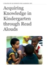 Acquiring Knowledge In Kindergarten Through Read Alouds Handbook