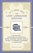 Let's Bring Back: The Lost Language Edition