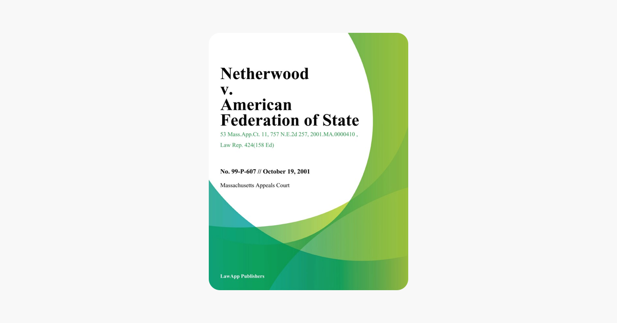 ‎Netherwood v  American Federation of State