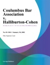 Coulumbus Bar Association V Halliburton-Cohen