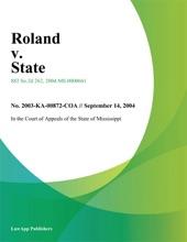 Roland V. State