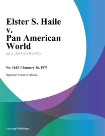 Elster S. Haile v. Pan American World