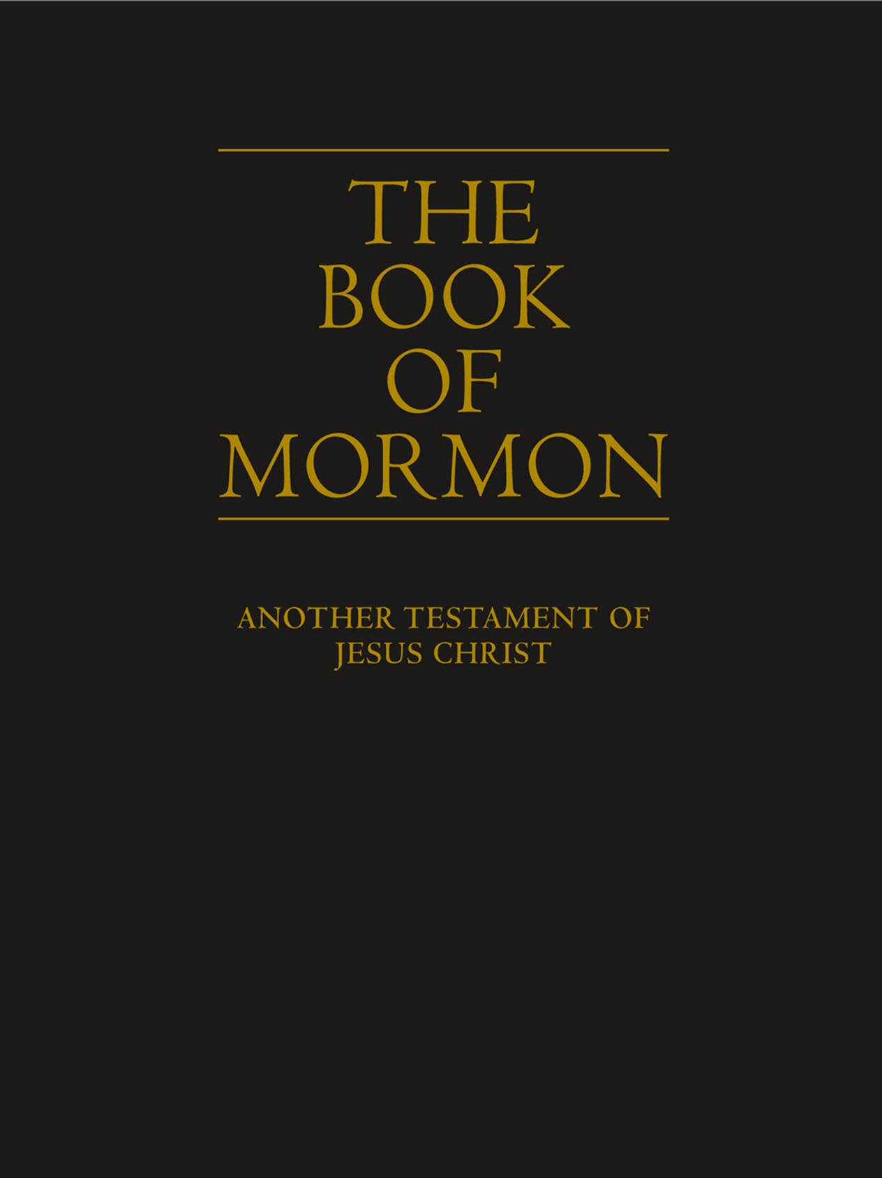 The Book Of Mormon By The Church Of Jesus Christ Of Latter