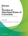Hornes V Warden Of Maryland House Of Correction