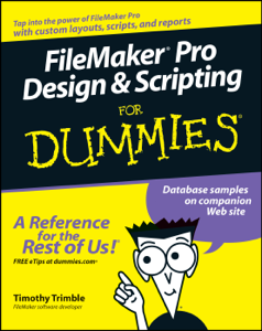 FileMaker Pro Design and Scripting For Dummies La couverture du livre martien