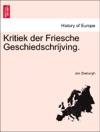 Kritiek Der Friesche Geschiedschrijving