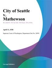City Of Seattle V. Mathewson