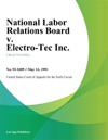 National Labor Relations Board V Electro-Tec Inc