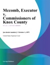 Mccomb Executor V Commissioners Of Knox County