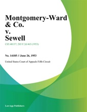 Montgomery-Ward & Co. V. Sewell