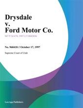 Drysdale V. Ford Motor Co.