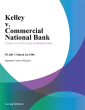 Kelley v. Commercial National Bank