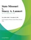 State Missouri V Stacey A Lannert